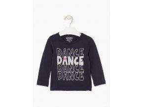 Dívčí tričko dlouhý rukáv DANCE