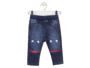 Kojenecké natahovací flísové džíny s veselým potiskem
