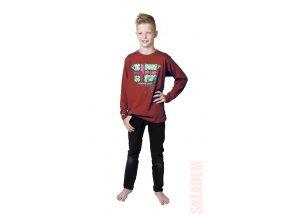 Chlapecké tričko dlouhý rukáv s potiskem a cvoky (různé barvy)