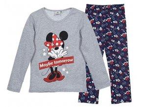 Dívčí pyžamo dlouhý rukáv Minnie (různé barvy a vzory)