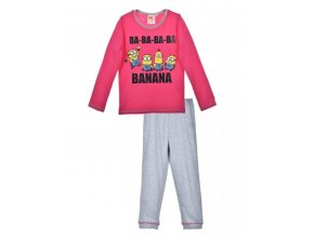 Dívčí pyžamo dlouhý rukáv Mimoni