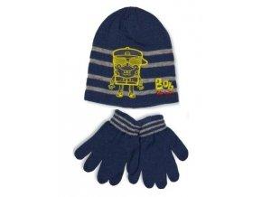 Chlapecký komplet Sponge Bob - čepice a rukavice