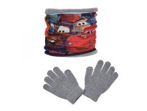 Chlapecký komplet Cars - nákrčník a rukavice