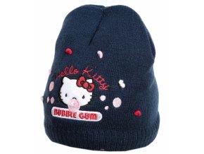 Dívčí pletená čepice Hello Kitty s fleecovou podšívkou