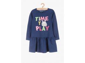 Dívčí šaty dlouhý rukáv Time to play