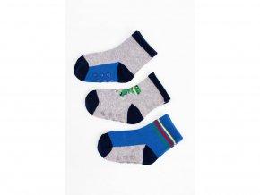 8321 chlapecke ponozky modro seda kombinace 3 pary