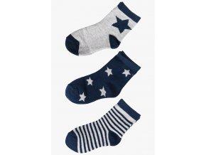 Chlapecké ponožky s hvězdičkami - 3 páry v balení