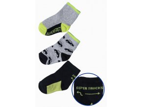 Chlapecké ponožky s autíčky - 3 páry v balení