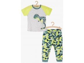Chlapecké pyžamo krátký rukáv a dlouhé nohavice Dino
