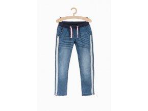 Dívčí pohodlné džíny s pruhem