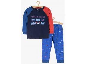 Chlapecké trojbarevné pyžamo dlouhý rukáv
