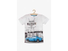 Chlapecké tričko krátký rukáv s potiskem auta
