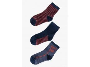 Chlapecké ponožky červeno-modrá kombinace - 3 páry
