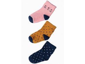 Mix dívčích ponožek - 3 páry v balení