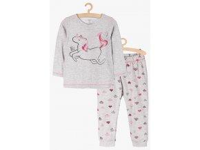 Dívčí pyžamo dlouhý rukáv Jednorožec