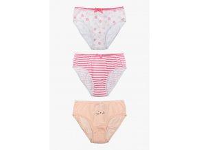 Dívčí kalhotky s mašličkou - 3 kusy v balení