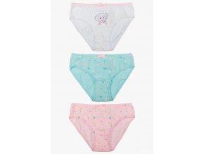 Dívčí bavlněné kalhotky - 3 kusy v balení