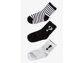 Dívčí ponožky černo-bílá kombinace - 3 páry