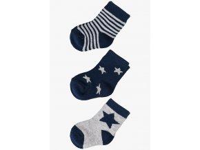 Kojenecké ponožky s hvězdami - 3 páry v balení