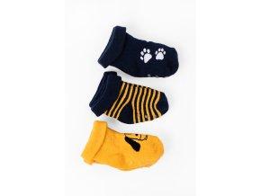Kojenecké protiskluzové ponožky pejsek - 3 páry