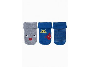Kojenecké ponožky s roboty - 3 páry v balení