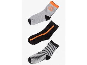 Chlapecké ponožky černo-šedá kombinace - 3 páry