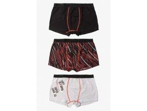 Chlapecké bavlněné boxerky - 3 kusy v balení