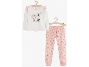 Dívčí pyžamo dlouhý rukáv Tři kočky