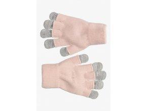 Dívčí rukavice s dvojitým efektem