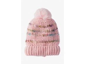 Dívčí růžová zimní čepice