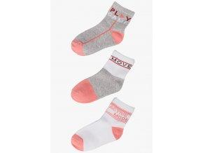 Dívčí ponožky s nápisy - 3 páry v balení