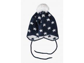 Kojenecká zimní čepice Hvězdičky
