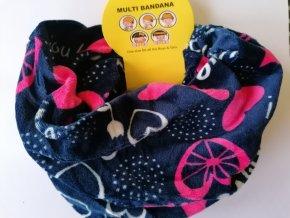 Dětský nákrčník - multifunkční šátek (různé barvy a vzory)