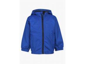 Chlapecká bunda s kapucí (větrovka) v modré nebo červené variantě