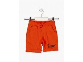Chlapecké oranžové kraťasy s kapsami