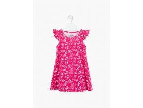 Dívčí šaty s celoplošným potiskem (v tyrkysové variantě)