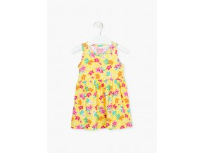 Dívčí šaty s celoplošným potiskem (v růžové variantě)