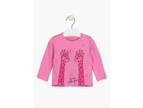 Kojenecké tričko dlouhý rukáv Žirafky (různé barvy a vzory)