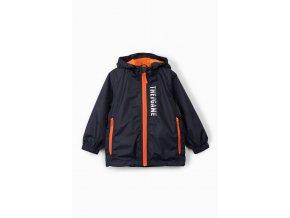 Chlapecká přechodová bunda s kapucí a bavlněnou podšívkou