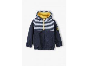 Chlapecká přechodová bunda s kapucí a fleecovou podšívkou