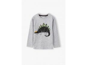 Chlapecké tričko dlouhý rukáv Dinosaurus