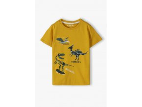 Chlapecké tričko krátký rukáv v hořčicové barvě