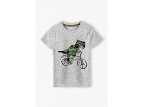 Chlapecké tričko krátký rukáv dino na kole