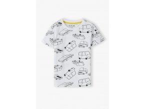 Chlapecké bavlněné tričko krátký rukáv Auta