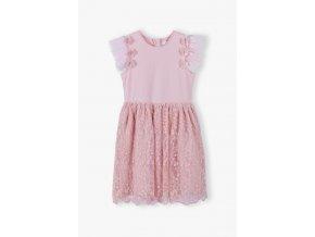 Dívčí společenské šaty s krajkovou sukní