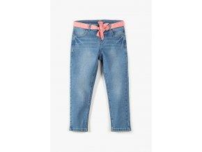 Dívčí džíny s ozdobným růžovým páskem