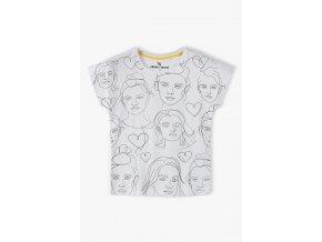 Dívčí tričko krátký rukáv s potiskem na přední části