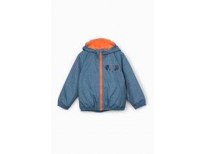 Kojenecká přechodová bunda s kapucí a fleecovou podšívkou
