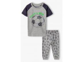 Chlapecké pyžamo krátký rukáv a dlouhé nohavice Fotbal