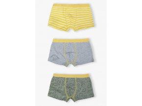 Chlapecké žluto-šedé boxerky - 3 kusy v balení